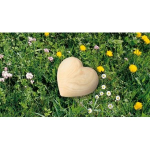 High Quality German Wooden Heart Urn. Made from ASH (Considered the King of Trees) Capacity 0.5 litres